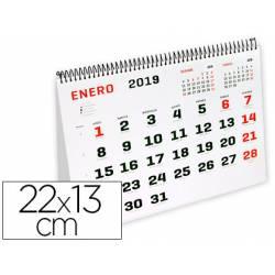 CALENDARIO ESPIRAL TRIANGULAR LIDERPAPEL 2019 22X13 CM PAPEL 120 GR