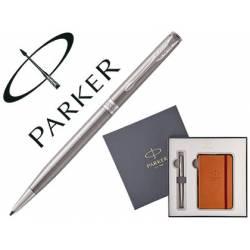 Bolígrafo Parker Sonnet CT y bloc de notas en caja de regalo