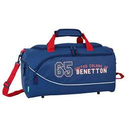 Bolsa Deporte Benetton 50x25x25 cm en Poliester Boy Azul