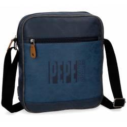 Bandolera Pepe Jeans 27x23x6 cm en Piel Sintetica Max azul Porta tablet
