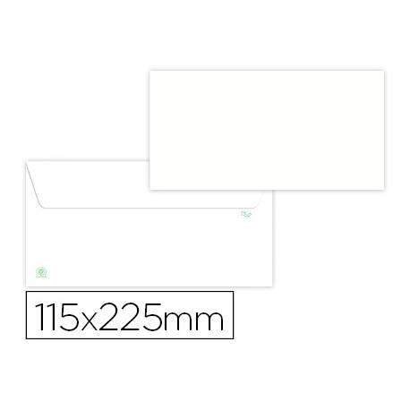 Sobre americano Liderpapel Blanco 115x225 mm papel 90 gramos Caja 500 unidades