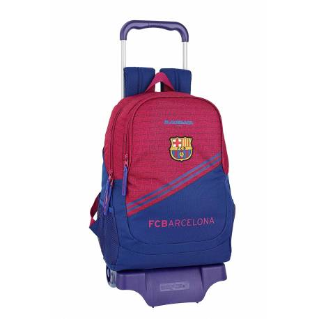 CARTERA ESCOLAR SAFTA CON CARRO F.C. BARCELONA CORPORATIVA 320X440X160 MM