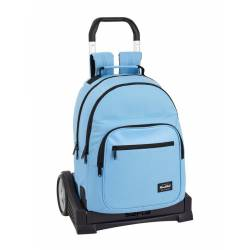Mochila Escolar Blackfit8 42x32x15 cm Poliester Azul Con carro