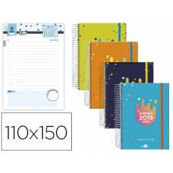 Agenda Escolar 19-20 Dia pagina Mini Espiral Bilingüe Liderpapel College Date No se puede elegir color