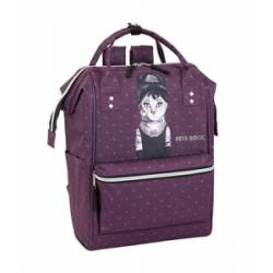"CARTERA ESCOLAR SAFTA PETS ROCK BREAKFAST MOCHILA CON ASAS PARA PORTATIL 13"" 270X190X400 MM"