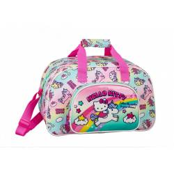 Bolsa Deporte Hello Kitty 40x24x23 cm en Poliester Candy Unicorns