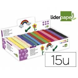 Plastilina Liderpapel colores surtidos 15 unidades