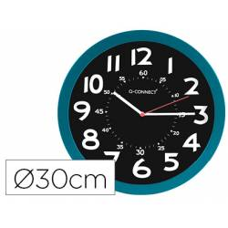 Reloj de pared Q-Connect azul 30 cm