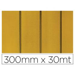 PAPEL FANTASIA COLIBRI SIMPLE MATE ORO CON RAYAS BOBINA 300 MM X 30 MT