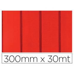 PAPEL FANTASIA COLIBRI SIMPLE MATE ROJO CON RAYAS BOBINA 300 MM X 30 MT
