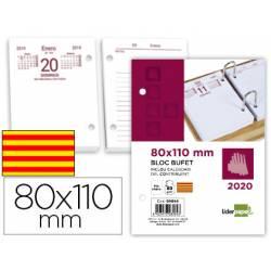Recambio Bloc Bufete Anual 2020 Dia pagina Catalan 80x110 mm Liderpapel