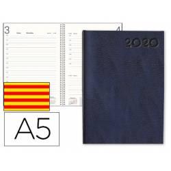 Agenda 2020 Encuadernada Corfu Dia pagina DIN A5 color Negro Liderpapel Catalan
