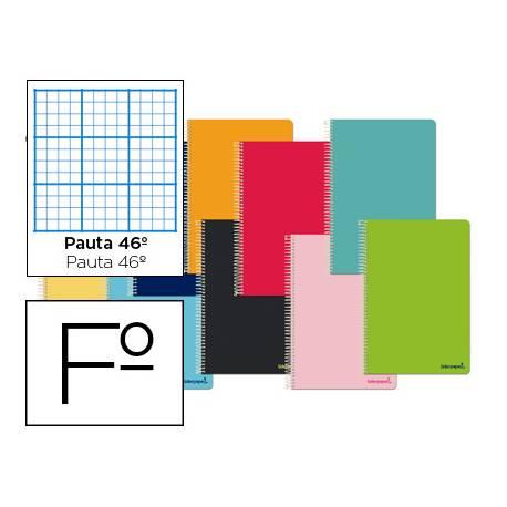 Cuaderno espiral Liderpapel Smart Tamaño Folio Tapa blanda Pauta 46º 60 g/m2 en Colores surtidos