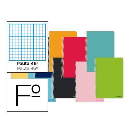 Cuaderno espiral Liderpapel tapa extradura folio 80 hojas pauta 46º Pack de 10 colores surtidos