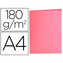 Subcarpeta de cartulina Liderpapel Din A4 color Rosa pastel 180g/m2