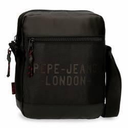 Bandolera Portatablet Pepe Jeans Bromley Negra 27x23x6cm Poliéster