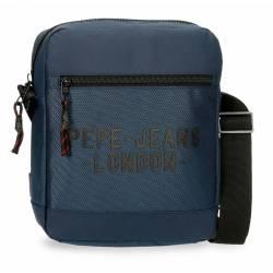 Bandolera Portatablet Pepe Jeans Bromley Azul 27x23x6cm Poliéster