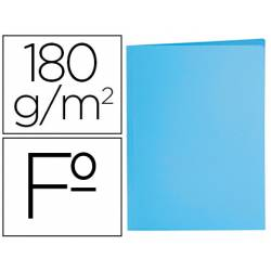 Subcarpeta de cartulina Liderpapel tamaño folio color azul pastel 180g/m2