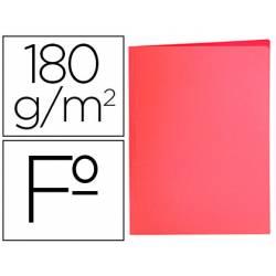 Subcarpeta de cartulina Liderpapel Tamaño folio color Rojo pastel 180g/m2