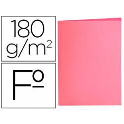 Subcarpeta de cartulina Liderpapel Tamaño folio color Rosa pastel 180g/m2