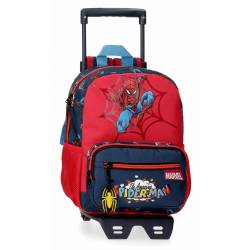Mochila 28cm con carro Spiderman Pop (20721T1)