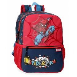 Mochila Spiderman Pop 32cm Adaptable (20722D1)