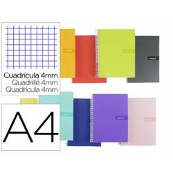 """Bloc Liderpapel DIN A4 crafty cuadro 4mm con margen tapa forrada 90 gr color """"no se puede elegir"""""""