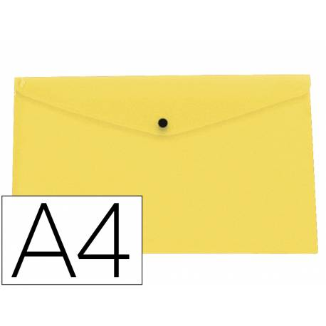 Carpeta dossier broche Liderpapel DIN A4 polipropileno 180 micras 50 hojas color amarillo