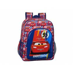 CARTERA ESCOLAR SAFTA CARS RACING BLOCK MOCHILA JUNIOR ADAPTABLE A CARRO 320X120X380 MM