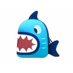 Mochila escolar/infantil marca Liderpapel Tiburón 28x24x11 cm.