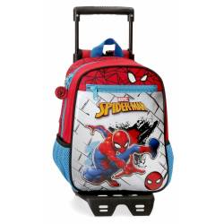 Mochila 28cm con carro Spiderman Red (40421T1)