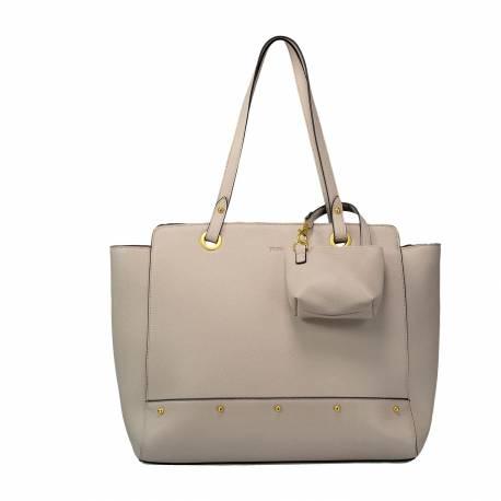 Bolso shopper mujer gris - Nuz Totto 28 x 35 x 14.5 cm