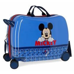 Maleta correpasillos Mickey Moods con ruedas multidireccionales poliéster
