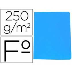 Subcarpeta Gio Folio 250 gr Cartulina azul
