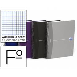 Cuaderno espiral Oxford Essentials Folio Cuadricula 4mm 80 hojas Tapa blanda Colores surtidos