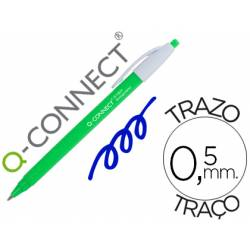 Boligrafo retractil Q-Connect Azul 0,5 mm Biodegradable
