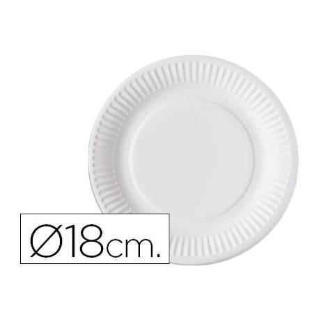 Plato de carton Nupik 18cm blanco