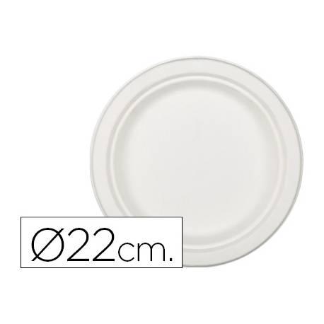 Plato de fibra natural Nupik 22cm blanco