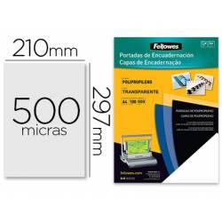 Tapa de Encuadernacion Polipropeno Fellowes DIN A4 Color Escarchado 500 micras pack 100 uds