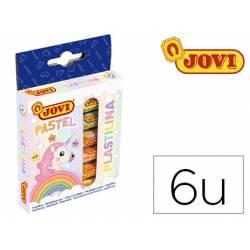 Plastilina Jovi colores pastel estuche 6 unidades