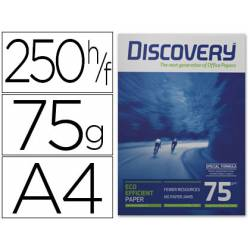 Papel multifuncion A4 Discovery Fast Pack 75 g/m2 Caja 2500 hojas