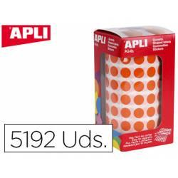 Gomets Apli circulares color naranja 10,5mm