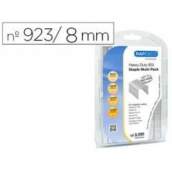 Grapas Rapesco Galvanizada nº 923/8-10-12-13 Caja de 3200 unidades