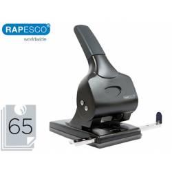 Taladrador Rapesco alu 65 color negro capacidad para 65 hojas