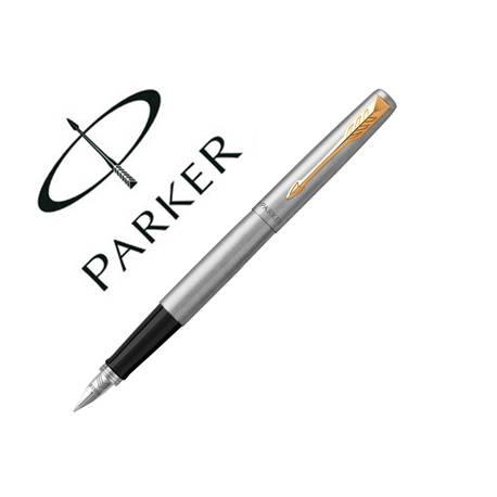 Pluma Parker Jotter de acero con estuche de regalo