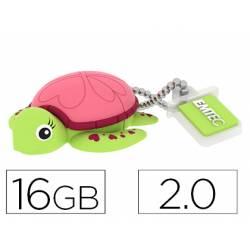 Memoria USB 16GB Tortuga Marca EMTEC