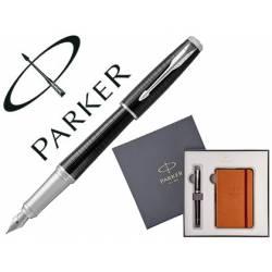 Pluma Parker urban premium ebony. Block de notas de regalo.