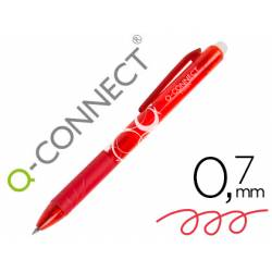 BOLIGRAFO Q-CONNECT RETRACTIL BORRABLE 0,7 MM COLOR ROJO