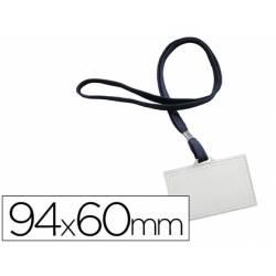Identificadores Q-Connect cordon plano azul