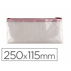 Bolsa multiusos 250x115 mm Q-Connect plastico impermeable y ultrarresistente Roja